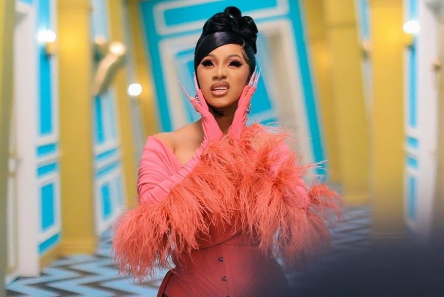 an image of Cardi B froma snap of her WAP video