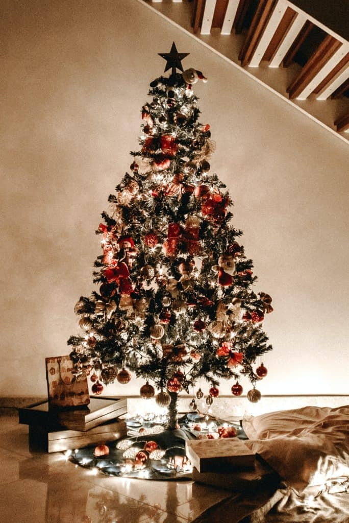 an image of a decorated Christmas tree