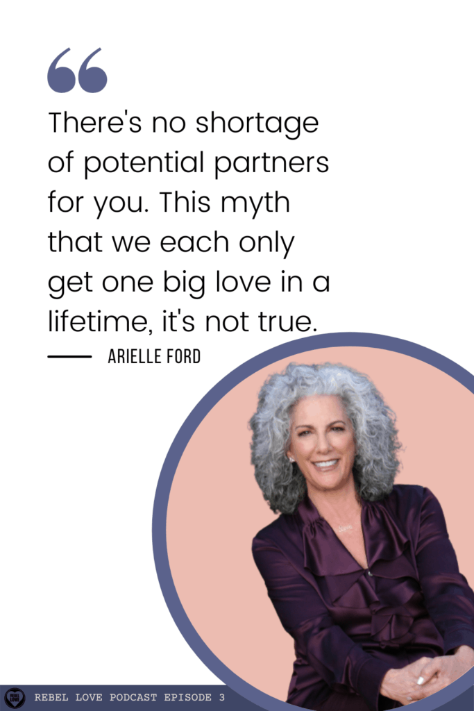 a pinterest pin quote from Rebel Love's podcast episode 3 with Arielle Ford